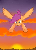Fly high scootaloo by Janji009