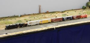 Southern Mikado 4751 Pulling Freight Train by rlkitterman