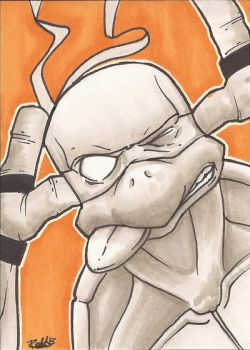 Michelangelo Sketch Card by Ross-A