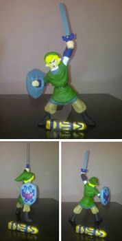 TLoZ Link molding clay by bon87