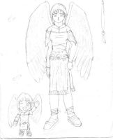 Girl with Wings by frostdemn