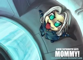 FF7: Chibi Sephy Says Mommy by ShiroiNeko-sama