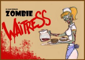 The Zombie Waitress by Gadget-FX