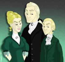 A Malfoy Family Portrait by cardinalbiggles