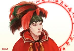 MERLIN happy new year 2012 by aprilis420