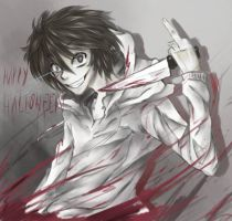 Happy Halloween Jeff the Killer by iAc7ivoUsEagaL