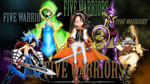 Five Warriors by Lunnika-Horo