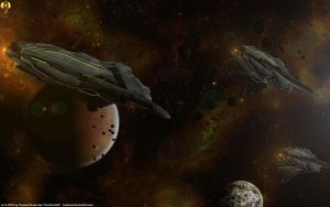 Prothean Cruisers by Euderion