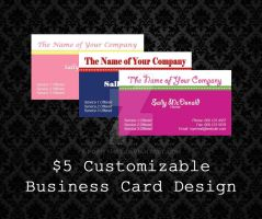 Customizable Business Cards by PointyHat
