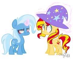 Trixie and Sunset Shimmer by jankrys00