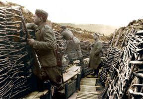 A German trench of World War 1 colorized by OldHank
