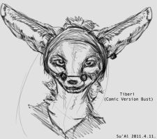 Tiberi Bust Sketch by TheSual