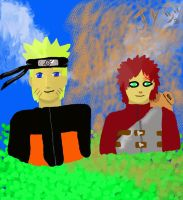 naruto and gaara by ohitsjoe5