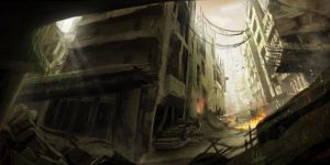 Post-apocalyptic city by SM-A