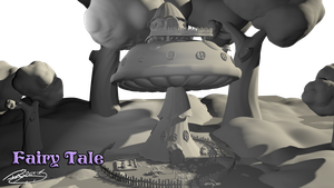 Fairy Tale 3D environment, just for fun :D by DaXetiK