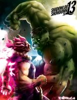 Hulk Vs Akuma by aerlixir