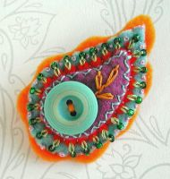 Paisley Brooch by joanieponytail