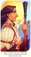 Michahel Alaric Trevelyan: The Three of Wands by Paperwick