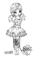 Gothic Lolita -Lineart by JadeDragonne
