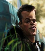 Matt Damon by creaturedesign