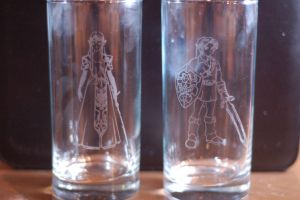 Link and Zelda Cup Set by JupiterGurl