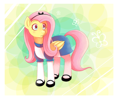 Fluttershy as Alice by xxKarokatxx