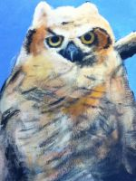 Owl painting by Gangor7