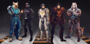 Scifi Characters by Leashe