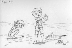 Daily Sketch #14 -Treasure Hunt by jmillgraphics