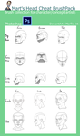 Photoshop Cheat Brush Pack : Heads by MarTs-Art
