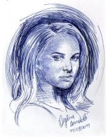 Jane Foster Ballpoint Pen by AngelinaBenedetti