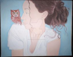 me and owl by peacemommab