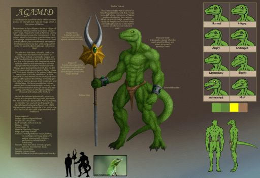 Agamid Reference Sheet V.1 by TargonRedDragon