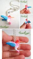 The hummingbird for a jewelry contest by FlowerLandBySaraMax