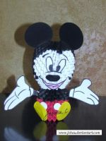 3D Origami Mickey Mouse by jchau