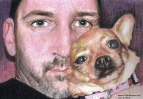 Me And My Dog ~ Colored Pencil by lemgras330