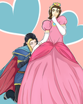 Game Grumps: Princess Peach Arin and Marth Suzy by MarcoMacabre