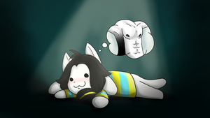 Temmie love muscles by Aron-the-white-wolf