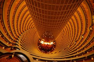 Inside the Jin Mao tower by Heurchon