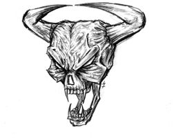 Demon skull by DeadKman