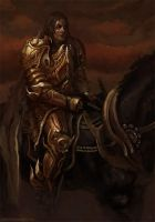golden knight by GregTaylorArt