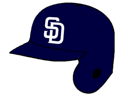 San Diego Padres batting helmet by Chenglor55