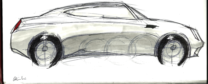 Chrystler 300 Concept Sketch by cjlashawn