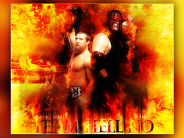 WWE Wallpaper Team Hell NO!!!!! by AccidentalArtist6511