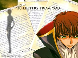 20 letters from you..front cov by Kaiiluvu