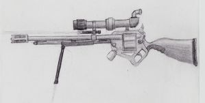 Steampunk RS-01 Rifle. by TheLeviathan666