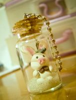 Pig Rabbit in a Bottle by mariloufrancisco