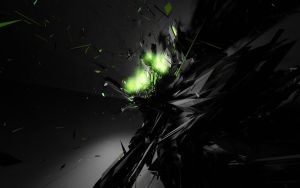 Black and Neon Green Wallpaper by TheonlyDragonFoX