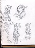 Annimelle sketches by Kirbunkle