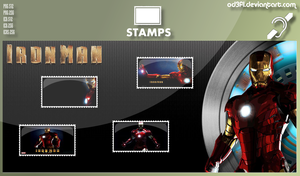 Stamps - 2008 - Iron Man by od3f1